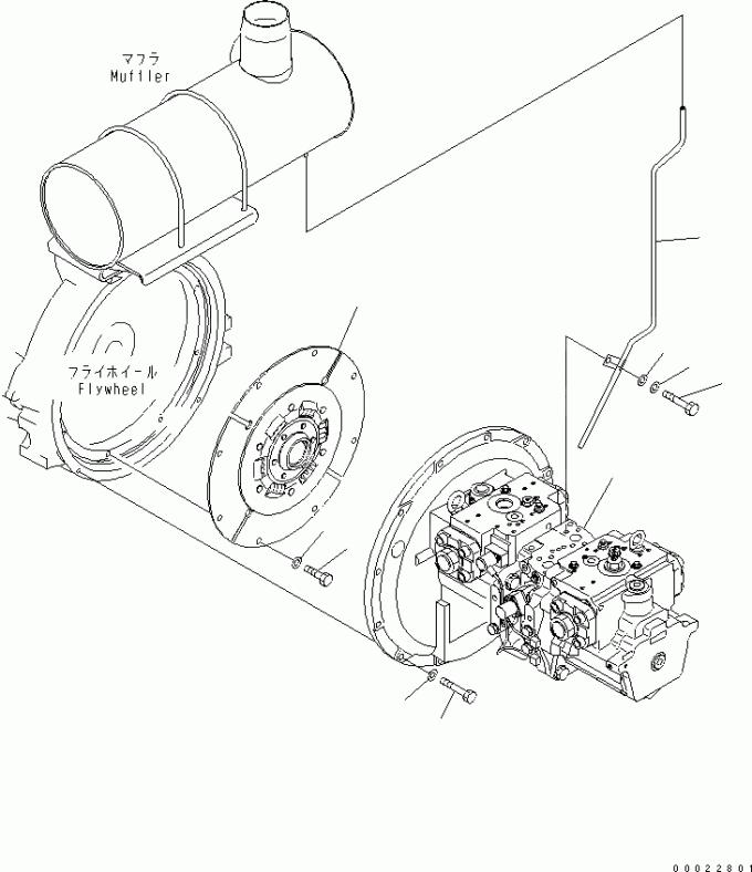 Excavator Hydraulic Pump 708-2G-00023 Pump Ass'Y HPV140