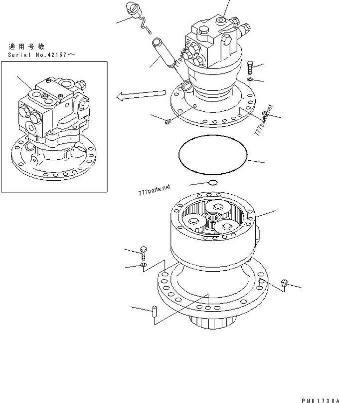 PC100-6 PC120-6 PC130-6 PC110-7 Komatsu Swing Gearbox Slew