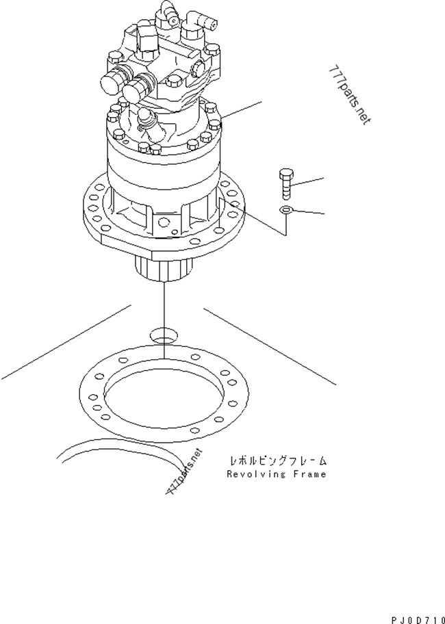 PC60-7 Excavator Slew Reduction without Motor LNM0639 201