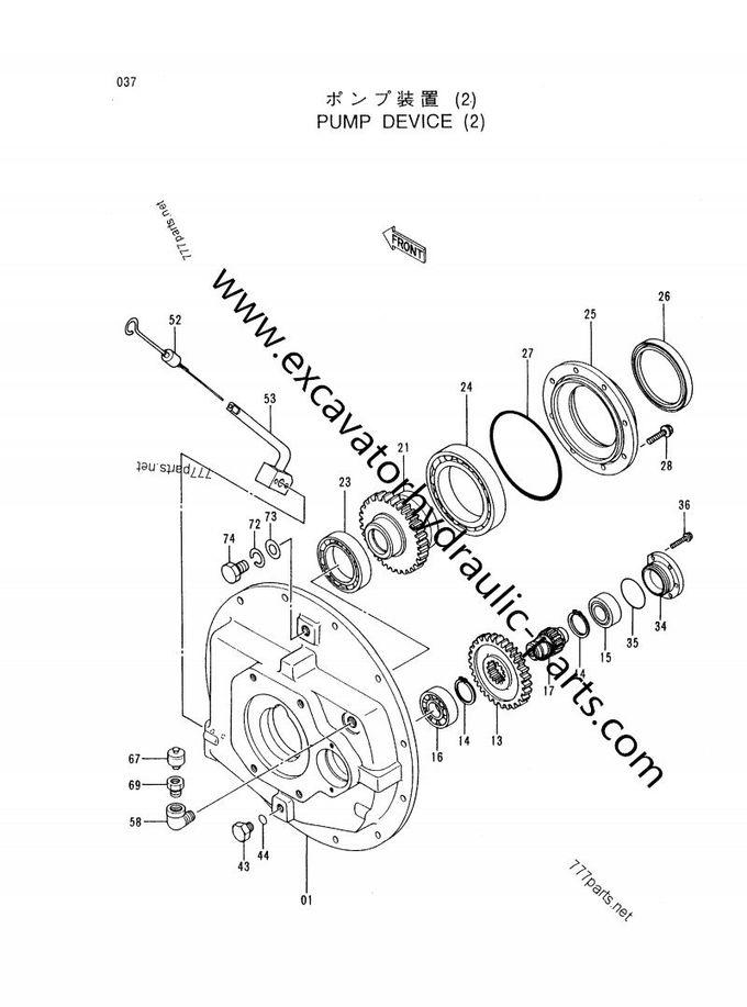 EX400-5 Excavator Hydraulic Pump Parts Transmission