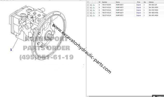 PC78US-6 Komatsu Hydraulic Pump , 708-3T-00140 708-3T