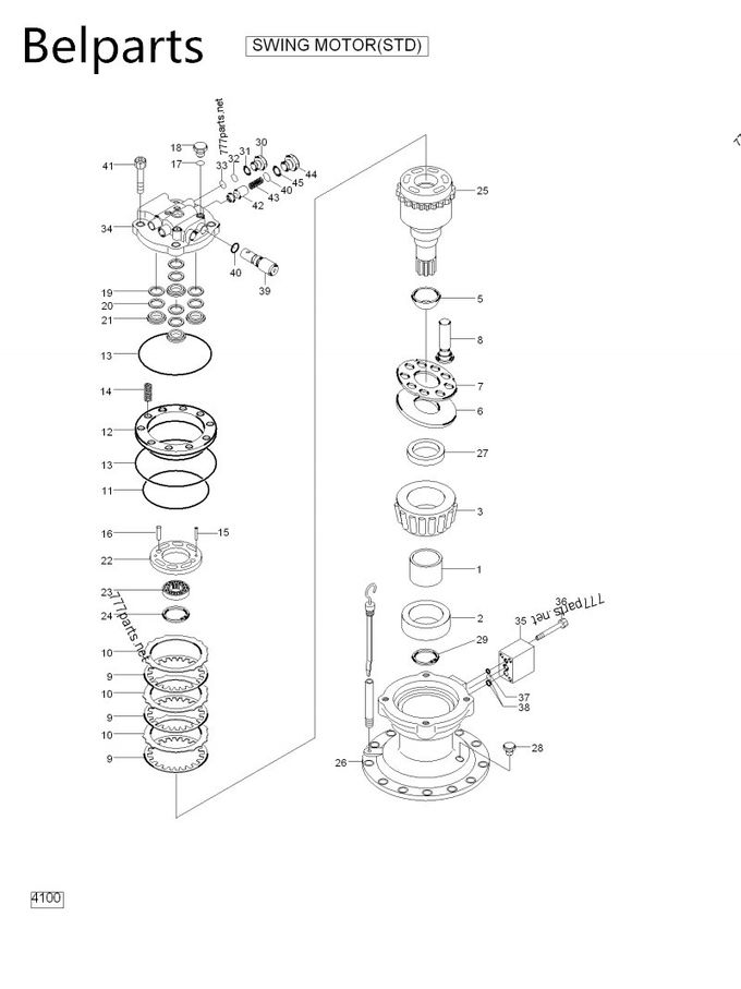 31N7-10130 Excavator Parts Swing Motor For R250LC-7 R275-9
