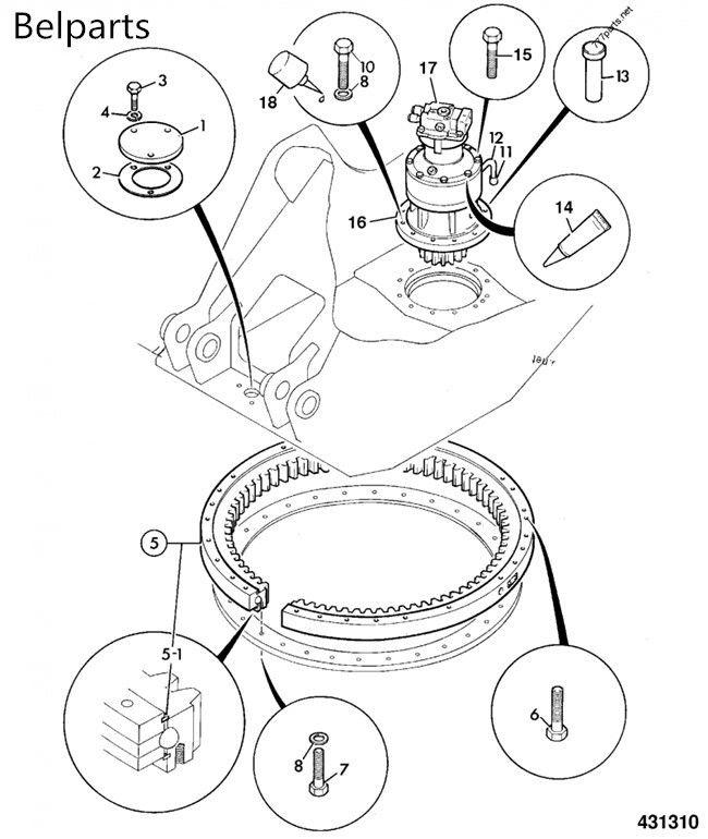 JCB JS220 JCB220 Swing Gearbox JRC0007 Excavator Parts