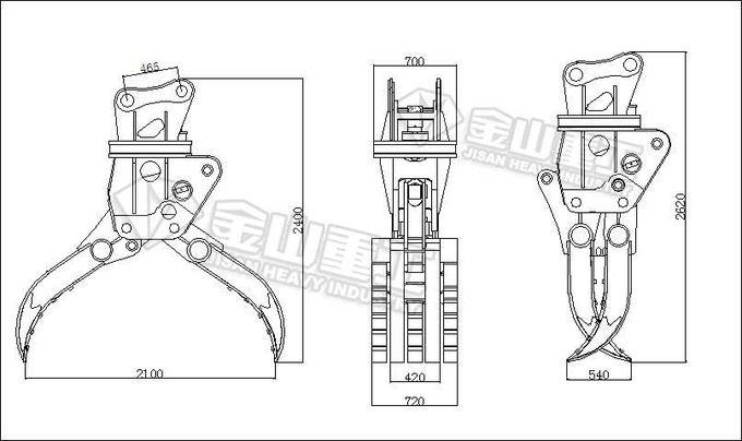 Multi Use Rotating Log Grapple Scrap Grab Suit Hitachi