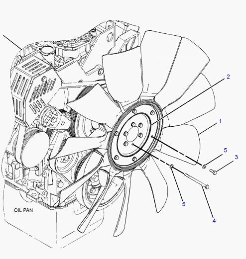 C7 Engine Fan Blade 230-2892 For Caterpillar 325d