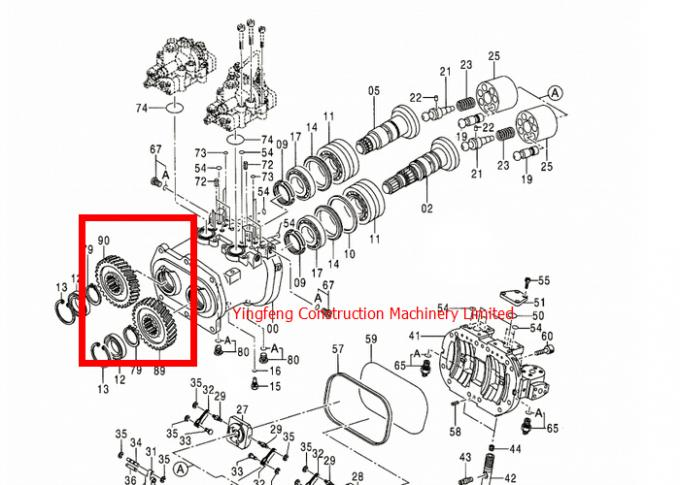 3100993 / 3100994 Hydraulic Pump Gear Hitachi Excavator