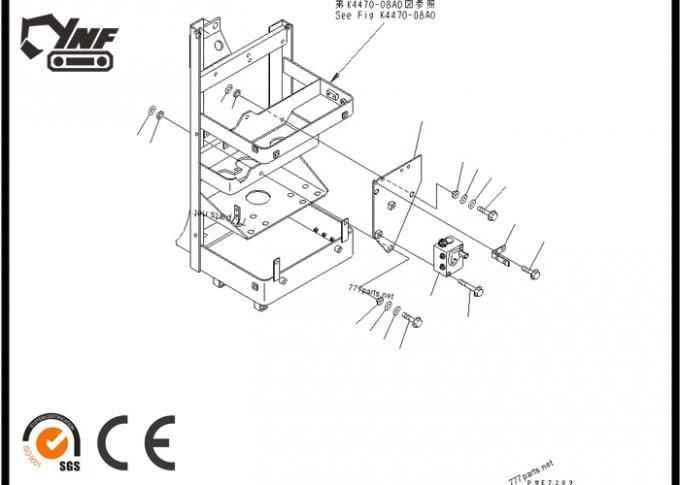 WA380-3 Komatsu Excavator Parts Pressure Reducing Value