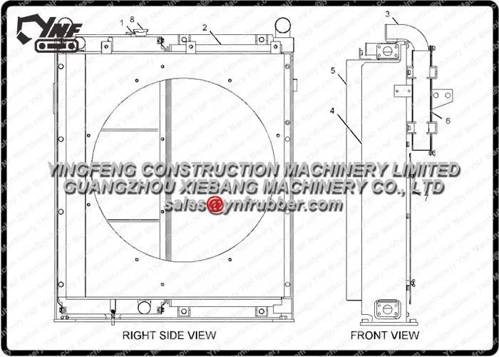 2364430 Caterpillar Heavy Equipment Radiators 320C
