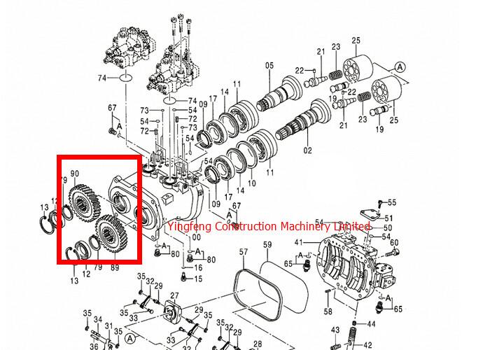3100993 / 310994 Hydraulic Pump Gear Hitachi Excavator