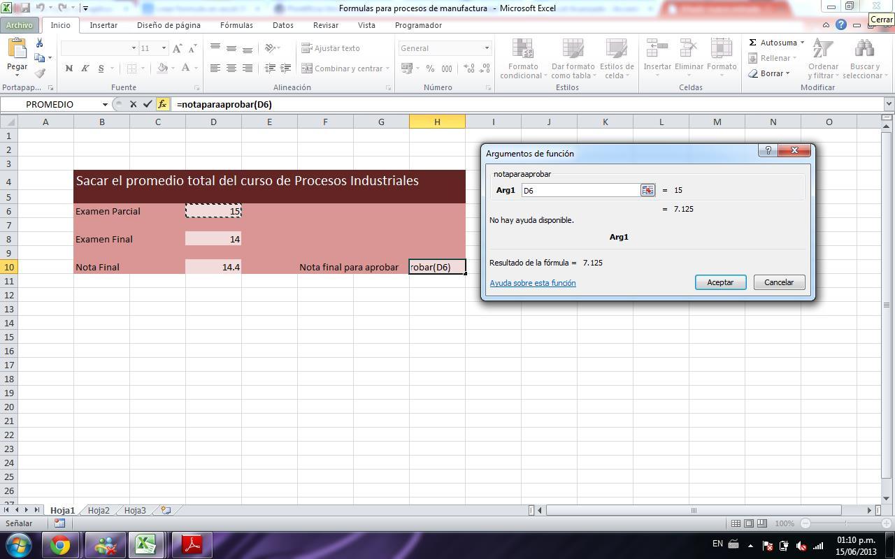 Formulas Para Sacar Promedio Total Y Nota Requerida Excel Avanzado