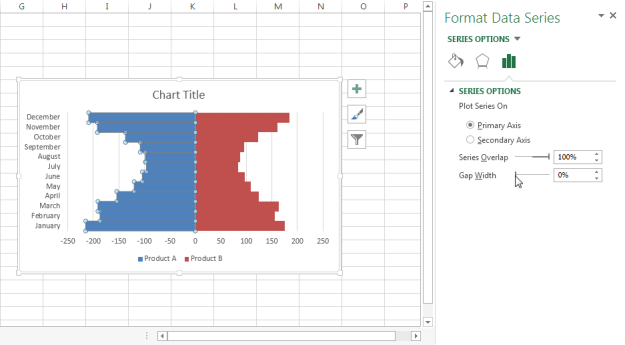 how to create a range bar excel