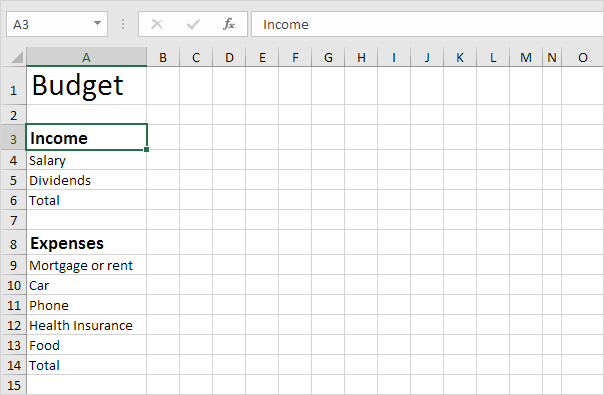 Budget Template in Excel - Easy Excel Tutorial