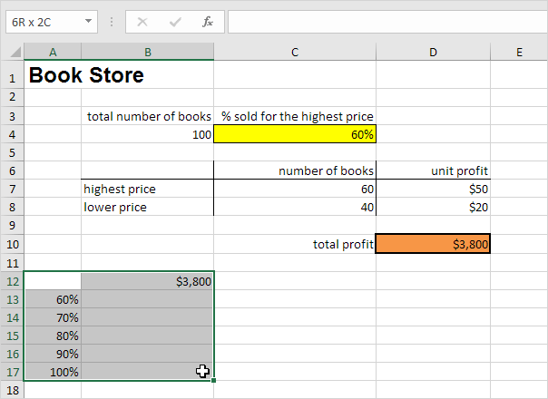 how to put data in excel