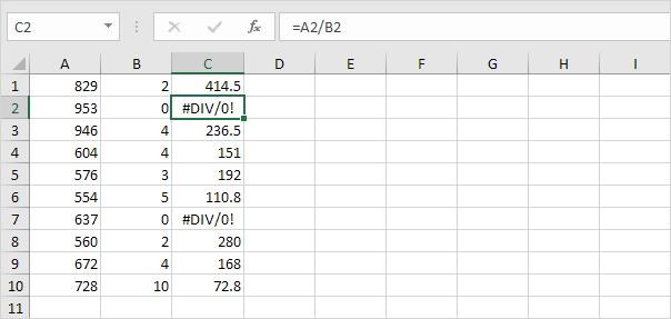 ISERROR function in Excel  Easy Excel Tutorial