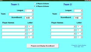Match Setup page