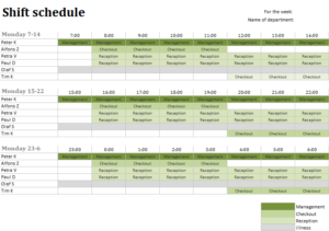 Staff deployment excel templates for every purpose for Duty schedule template