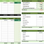 Monthly Household Budget Microsoft Excel Template