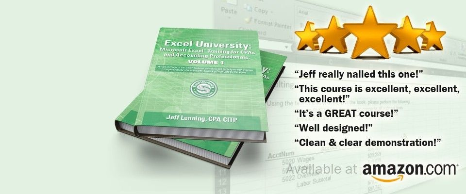 Excel University   Microsoft Excel Training for CPAs and Accounting ...