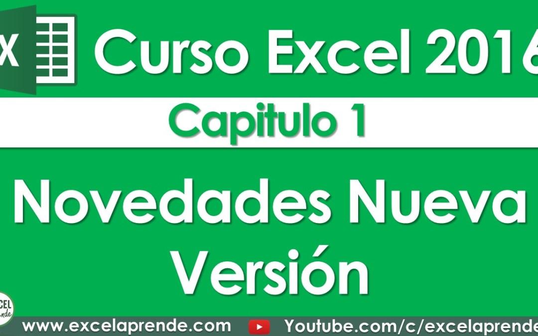 Curso Excel 2016 – Capitulo 1 – Novedades Excel | Excel Aprende