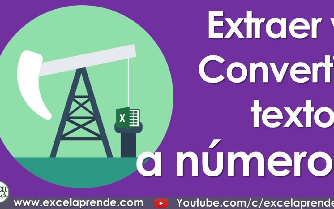 Extraer y Convertir textos a números | Excel Aprende