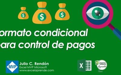 Formato condicional para control de pagos | Excel Aprende