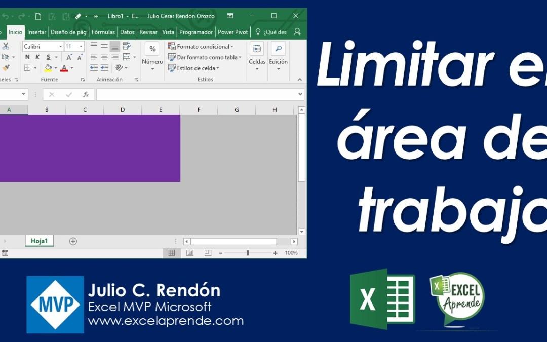 Limitar el área de trabajo en Excel | Excel Aprende
