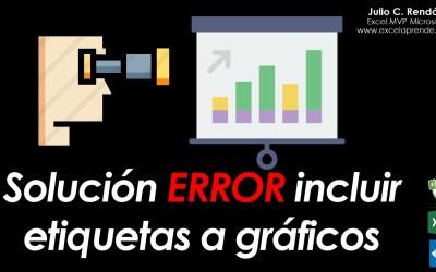 Solución ERROR incluir etiquetas a gráficos | Excel Aprende