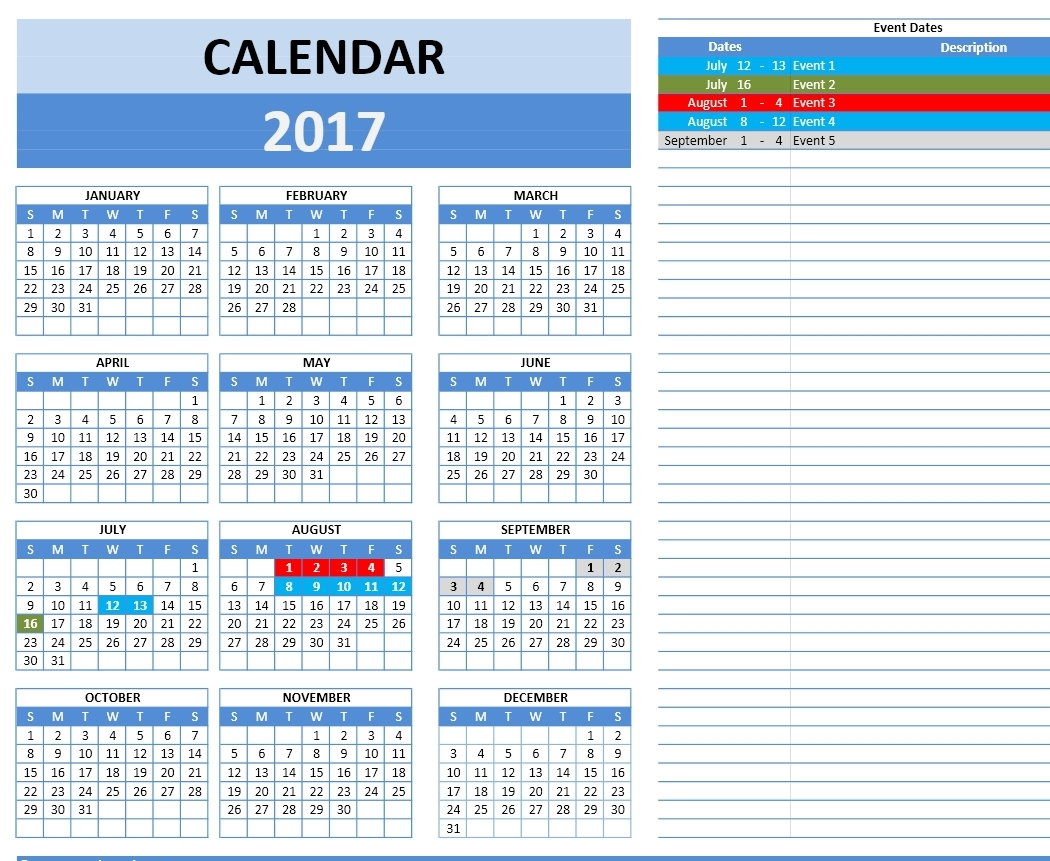 How To Put Calendar In Excel