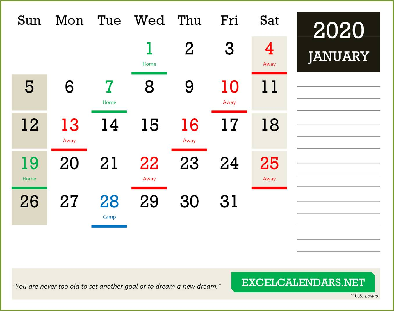 Yearly Calendar Templates For Year