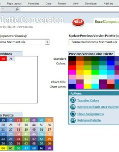 Color palette conversion tool screenshot also excel   compatibility solution rh excelcampus