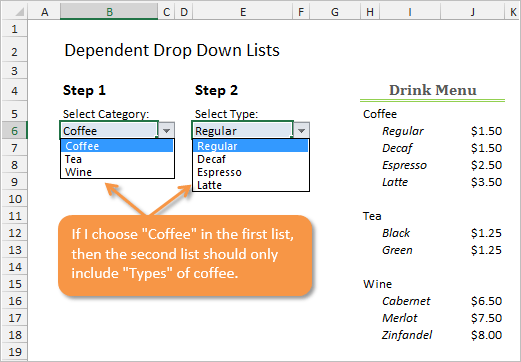 How to Create Dependent Drop-down Lists | Excel Campus