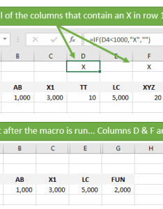 Hide all columns that contain  value excel vba macro before and after also to in cell rh excelcampus