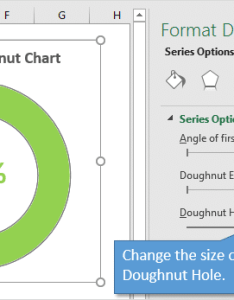 Change the size of doughnut hole in chart also progress with conditional formatting excel rh excelcampus