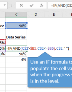 Data range setup for progress doughnut chart with conditional formatting also in excel rh excelcampus