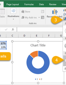 Insert the progress doughnut chart in excel also with conditional formatting rh excelcampus