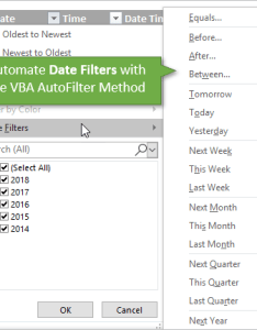 Vba autofilter automate date filters also how to filter for dates with macros in excel campus rh excelcampus