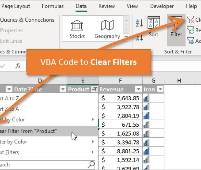 Excel Vba Refresh Worksheet Formulas, Vba Code To Clear Filters In Excel, Excel Vba Refresh Worksheet Formulas