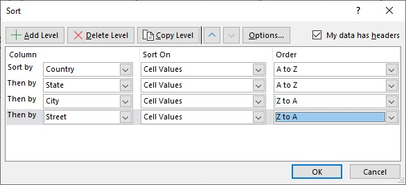 Advanced Sorting in Excel With Multiple Levels