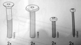Ikea screws