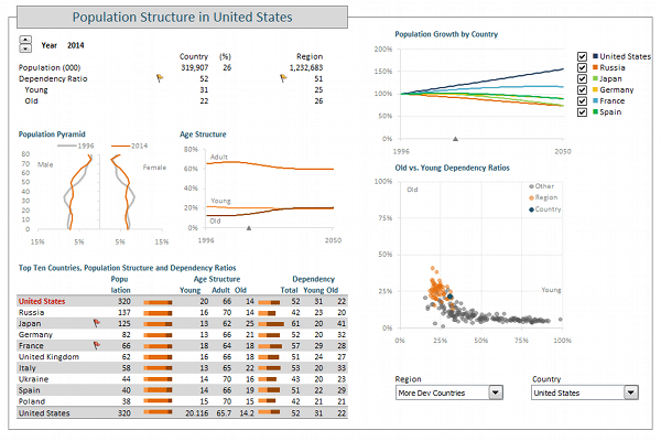 Demographic Dashboard VBA Edition