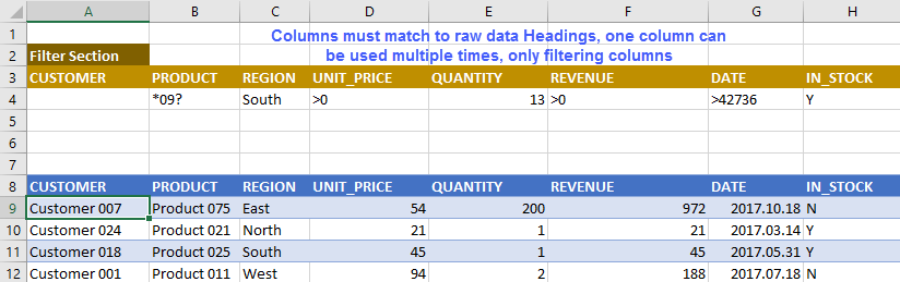 Filter Excel table records using Advanced Filter and VBA   EXCELCISE