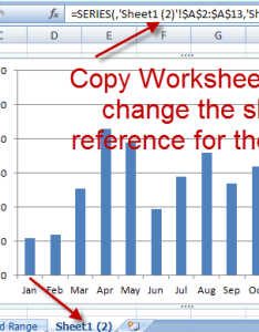 Sheet where the original chart and data series are stored also how to copy charts change references new worksheet rh exceldashboardtemplates