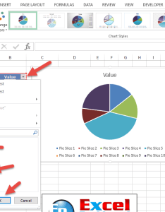 Filter table values and uncheck zero blanks also how to easily hide blank from an excel pie chart rh exceldashboardtemplates