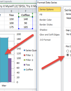 Move series to nd axis for stacked and non clustered column chart also how create  unstacked in excel rh exceldashboardtemplates