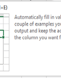 New feature excel flash fill use it for quick data retrieval and formatting also rh exceldashboardtemplates