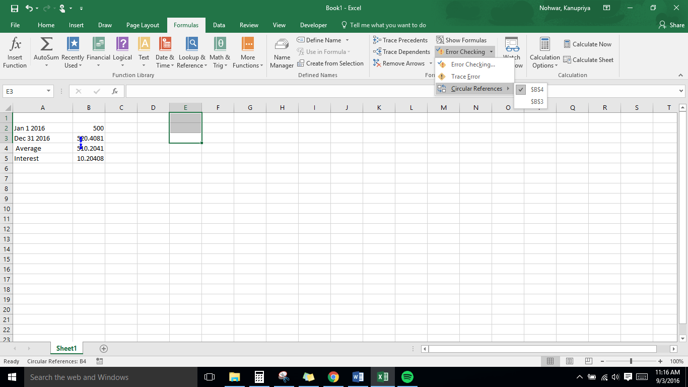 How To Find And Handle Circular Reference In Excel