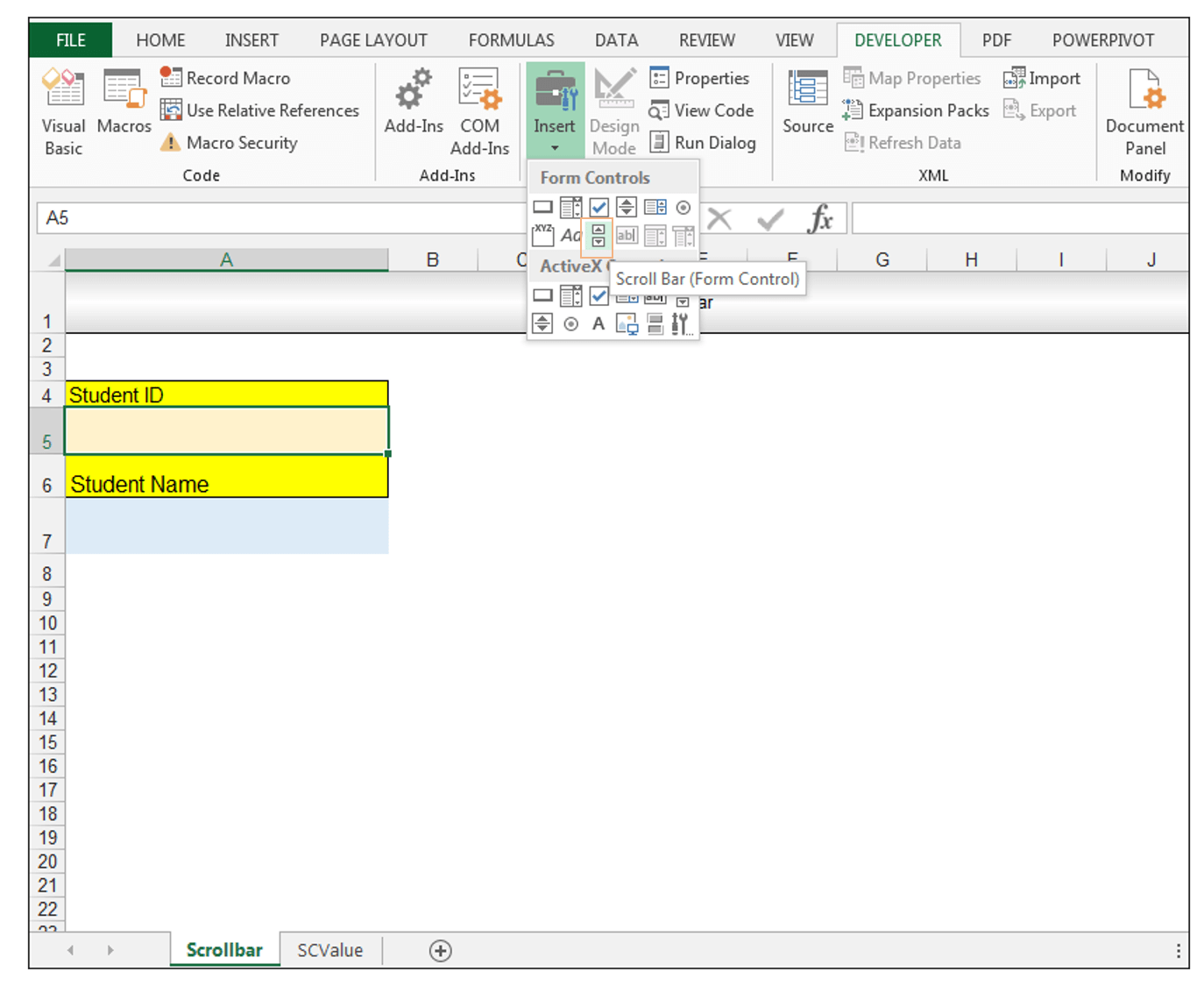 Breanna Excel Activex Form