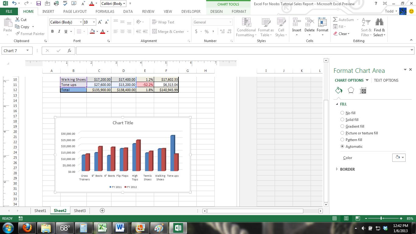 Excel For Noobs Tutorial How To Use Page Layout And Print In Excel Excel Excel