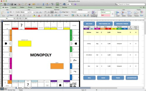 small resolution of this simulation of the class board game monopoly is just one example of how far excel can go it began as a way to come up with new strategies for computer