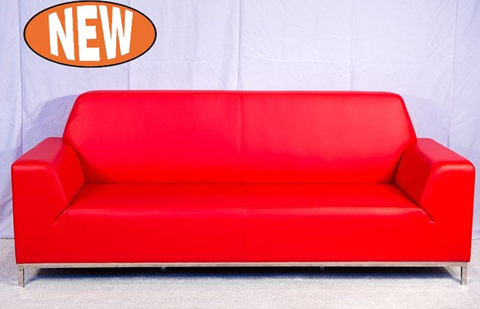 Flinders 3 seat lounge - Red